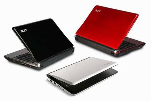 """23 января 2009.  Acer официально представила 10 """" нетбук Aspire One."""