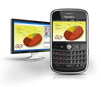 С услугой Cisco WebEx Meeting Center обладатели смартфонов Blackberry и Nokia смогут устраивать мобильные веб-конференции